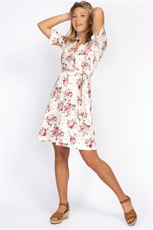 Rosie Dress, creme/rose